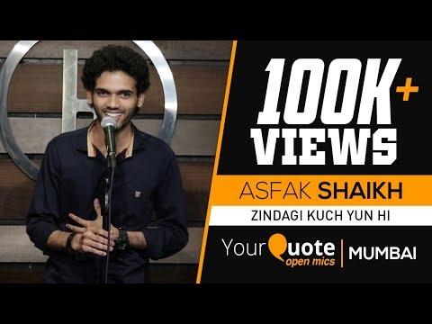 'Zindagi Kuch Yun Hi Chalti Rahi' By Asfak Shaikh | Hindi Shayari | YQ - Mumbai (Open Mic 7)
