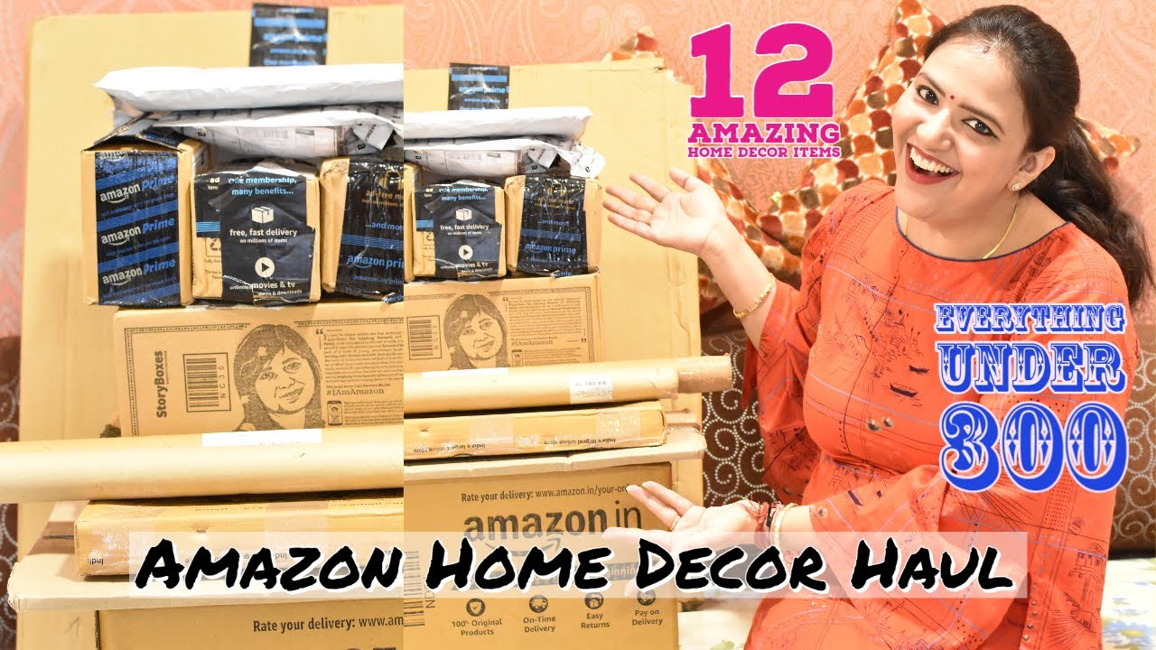 Amazon Haul 300 À¤¸ À¤ À¤•à¤® À¤° À¤ªà¤ À¤® À¤¹ À¤® À¤¡ À¤• À¤° À¤• À¤†à¤‡à¤Ÿà¤® 12 Amazing Home Decor Items From Amazon Youtube