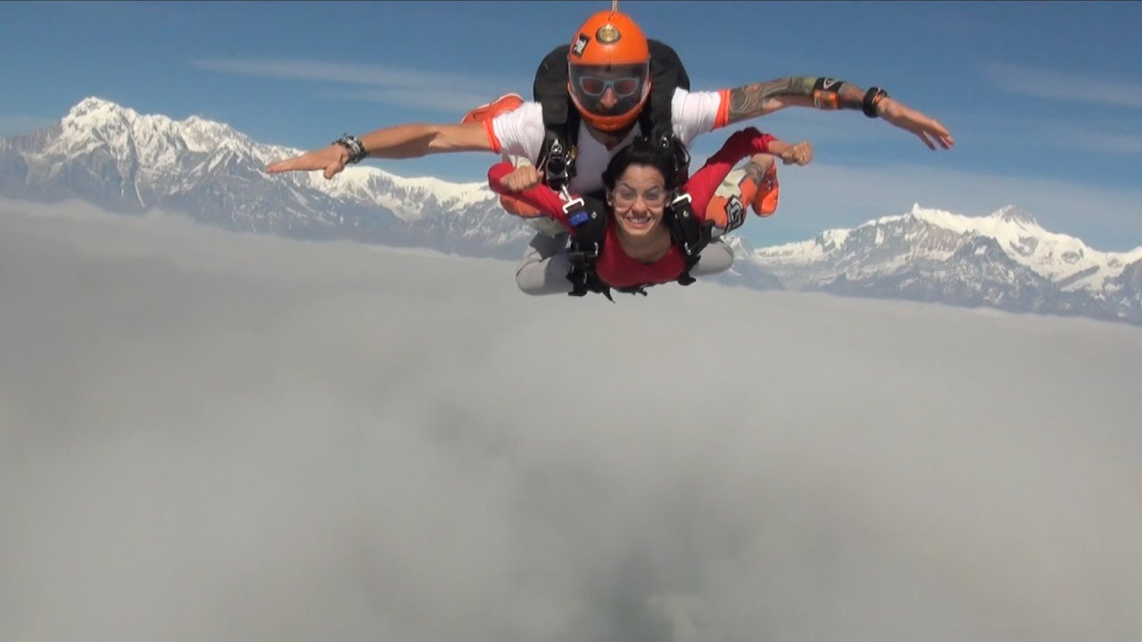 Skydiving Over The Himalayas   Nepal Skydive   Skydiving In