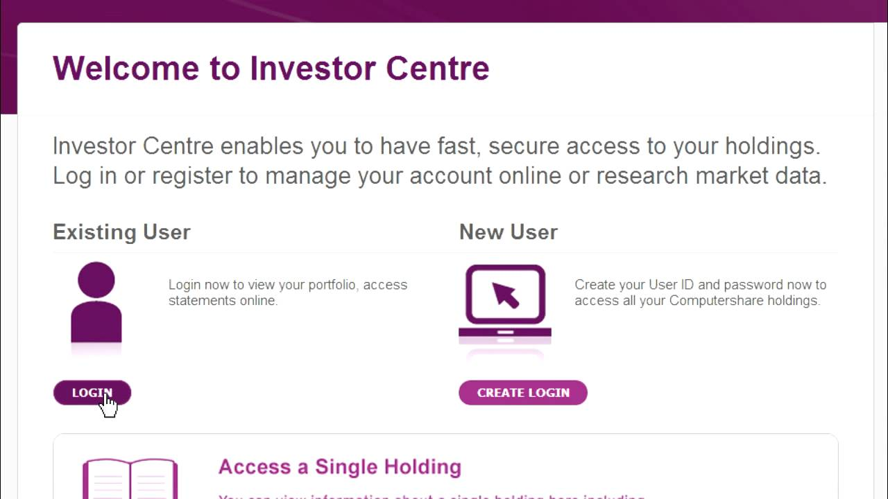 Investor Centre Aust Nz How To Login Computershare