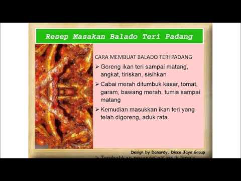 Resep Masakan Balado Teri Padang - YouTube