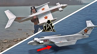 GIANT RC Ekranoplan (Secret Russian aircraft?)