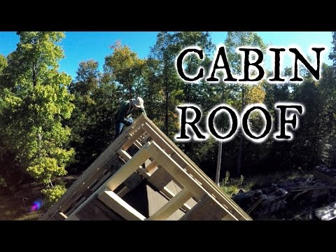 Our timber frame cabin part XIII: CATHEDRAL CEILING AND ROOF
