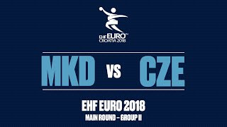 CZECH REPUBLIC - NORTH MACEDONIA | Men's EHF EURO 2018 Main Round | Full Match
