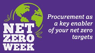 Click here to play the Procurement as a key enabler of your net zero targets video