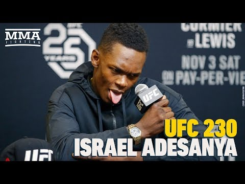 UFC 230: Israel Adesanya Post-Fight Press Conference - MMA Fighting