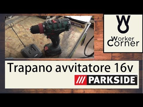 Trapano avvitatore parkside 16v youtube for Trapano avvitatore parkside