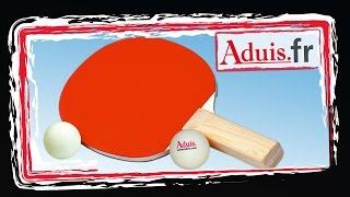 La raquette de ping-pong
