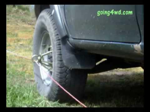 Going 4wd The Bush Winch Wheel Winch Youtube