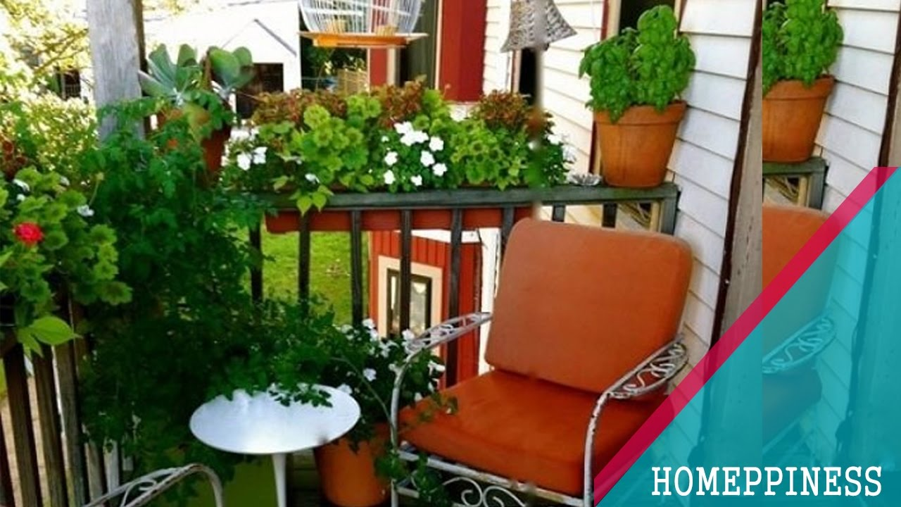 25  Inspiring Small Balcony Garden Ideas For Small Apartment - YouTube