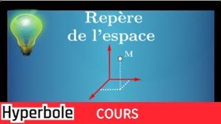 géométrie dans l'espace : comment trouver les coordonnées d'un point dans un repère de l'espace