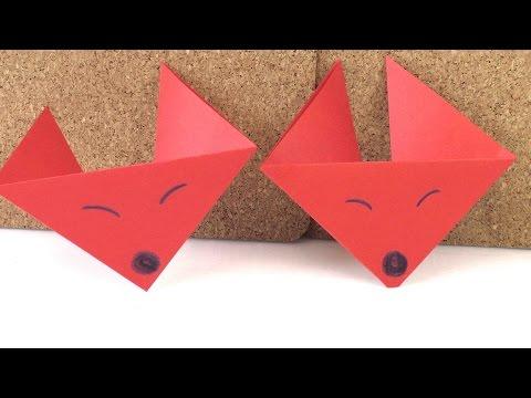 fuchs falten origami fox super einfach super nied. Black Bedroom Furniture Sets. Home Design Ideas
