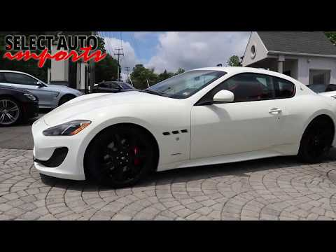 #20625, 2017 Maserati Granturismo Sport Coupe, White, Select Auto Imports in Alexandria, VA