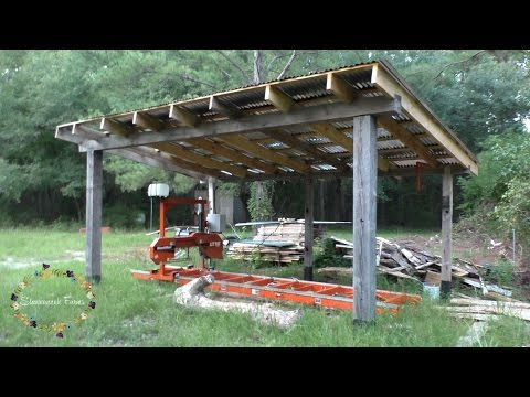 How we built our sawmill shed   Wood-mizer LT15 Wide
