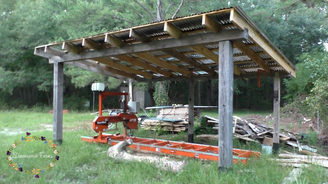 How we built our sawmill shed | Wood-mizer LT15 Wide