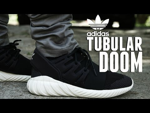 "Adidas Tubular Doom ""Black"" w/ On Foot"