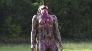 Cannibal Holocaust Impaled Girl Photo Shoot