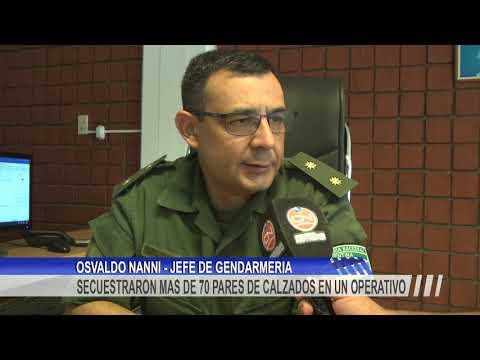 El Escuadrón 4 de Gendarmería secuestró importante cantidad de calzados transportados sin aval aduanero.