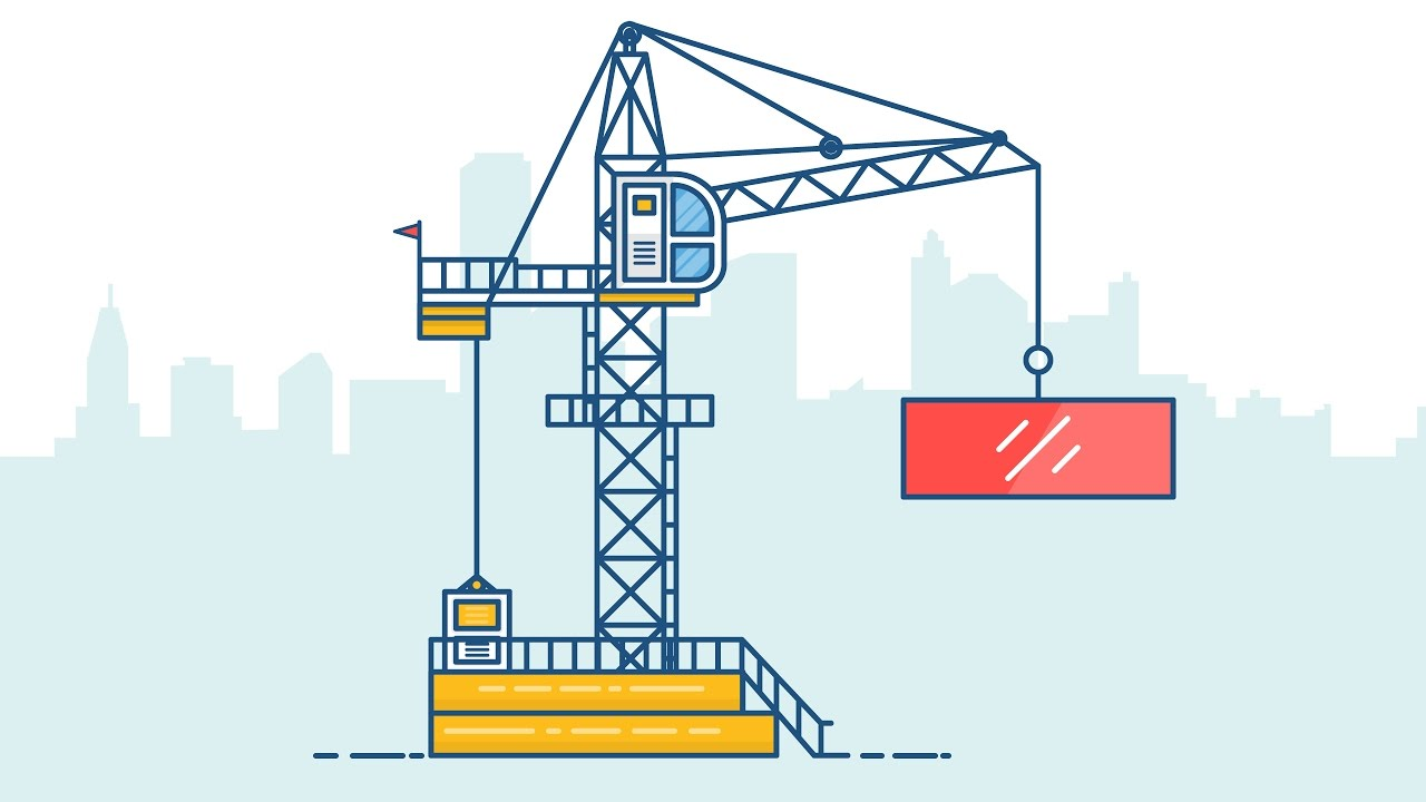 Line Art Design Tutorial : Illustrator tutorial design a tower crane line art youtube