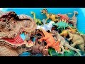 Dinosaurs Awesome Toy Box! Learn Dinosaur Names With Jurassic World T Rex - Dino Toys For Kids
