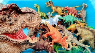 Dinosaurs Awesome Toy Box! Learn Dinosaur Names With Jurassic World T Rex - Dino Toys For Kids Mp3