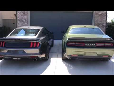 2018 Dodge Challenger Srt Demon F8 Green Vs 2016 Ford Mustang