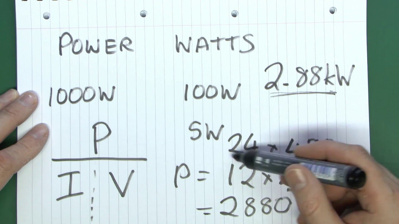 Voltage Current Resistance Power Youtube The Ohms Law Can Be Used To Work Out Voltages And Currents