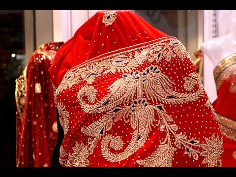 ar-055-rich-look-♥-heavy-stone-work-saree-||-zardozi-work-||-wedding-wear-||-party-wear-||