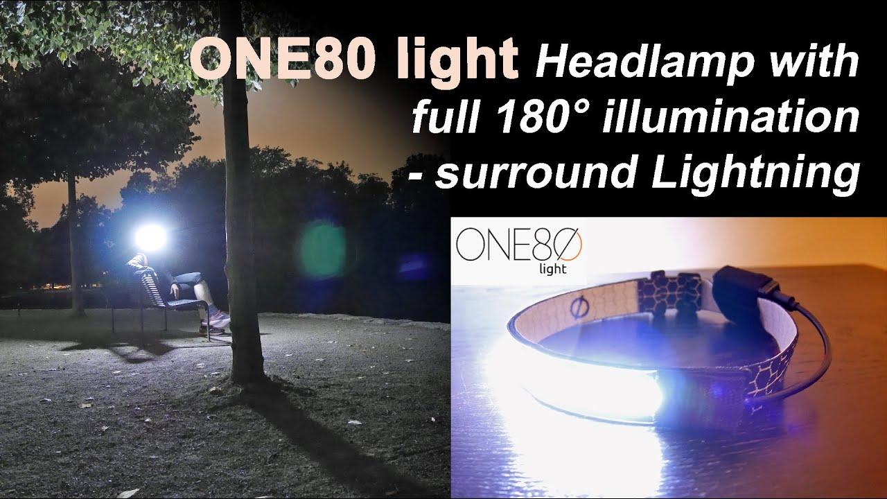 Led night light kickstarter - The One80 Light Headlamp 180 Degrees Illumination Surround Lightning Kickstarter
