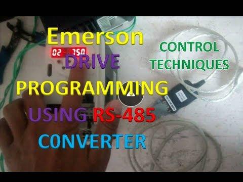 Emerson Control Techniques Commander SK AC Drive PARAMETER UPLOAD USING CTSoft