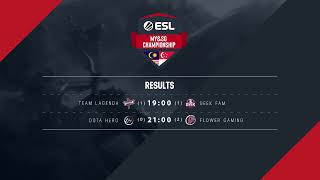 ESL MYSG Championship - Dota 2: Week #2 Matchday #2 [Lagenda vs GeekFam; DotaHero vs FlowerGaming]