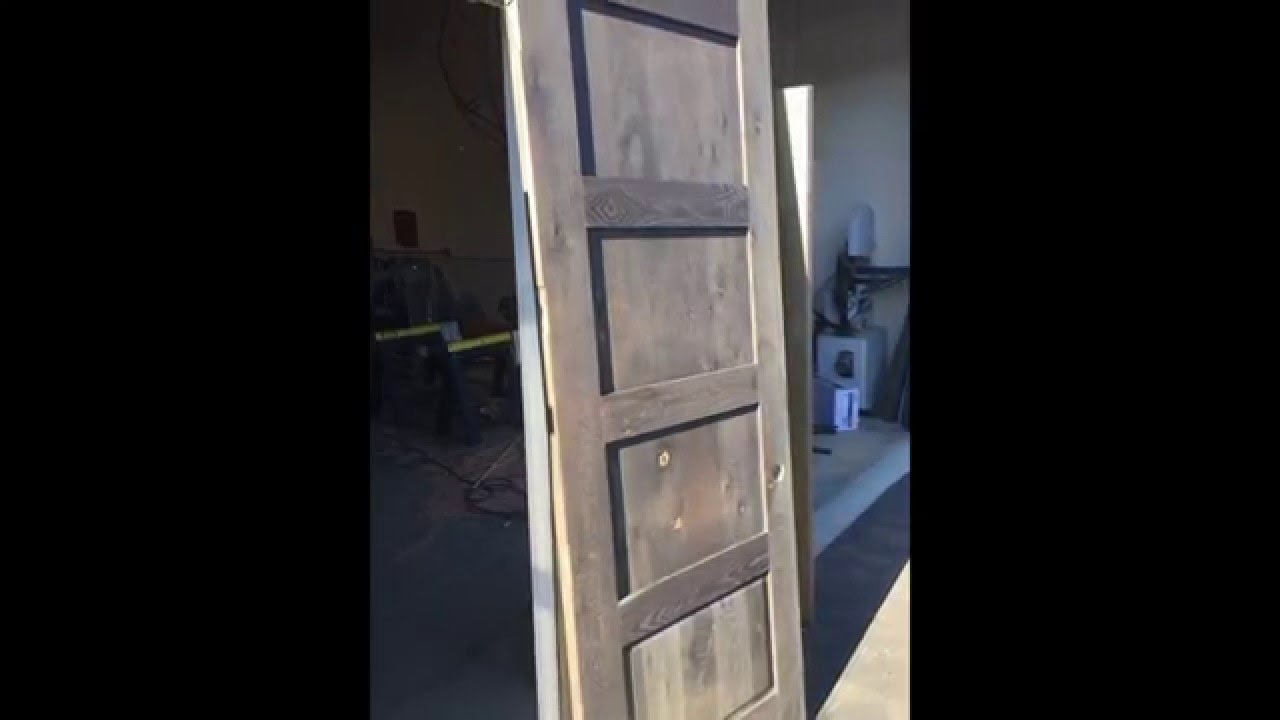 Time Lapse DIY Restoration Hardware look with White Oak Doors + Reclamation & Time Lapse: DIY Restoration Hardware look with White Oak Doors + ...