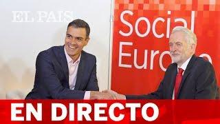 DIRECTO PSOE | PEDRO SÁNCHEZ clausura la convención del Partido Socialista Europeo en Madrid