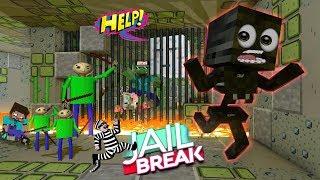 Monster School : BALDI'S PRISON ESCAPE CHALLENGE - Minecraft Animation