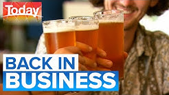 Pubs, club and restaurants reopen | Today Show Australia
