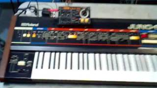 Roland JUNO-60 & BOSS DR-55 in Sync !