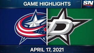 NHL Game Highlights | Blue Jackets Vs. Stars – Apr. 17, 2021