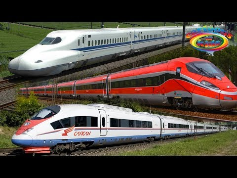 Скоростные поезда мультфильм
