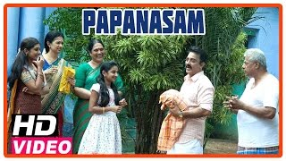 papanasam tamil movie scenes kamal haasan and family visits his in laws house gautami