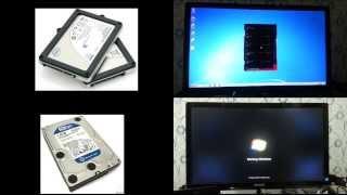Windows 7 Boot up comparison : Intel X25-M 2.5' 80GB SSD vs WD CAVIAR BLUE 1TB
