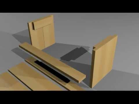 Steigerhouten tuinbank zelf maken doehetzelf youtube for Zelf meubels maken van hout