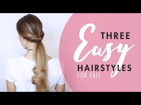 3 Easy Hairstyles For Fall (No Heat)