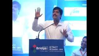Mr. Sujith Kumar, Location Head – HR, Infosys Ltd intently enunciat...