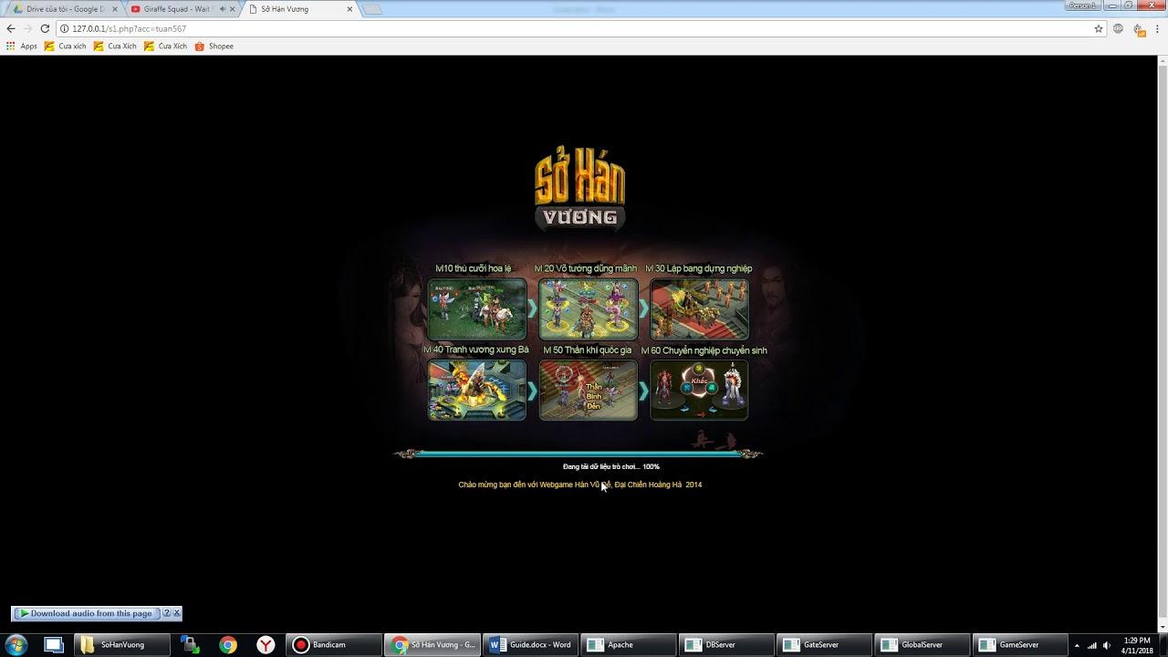 [Release] Sở Hán Vương – Webgame – Việt Hóa