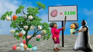 Granny vs Scary Teacher 3D vs Hulk Egg chocolate tree Funny Animations - DRAWING CARTOONS 2