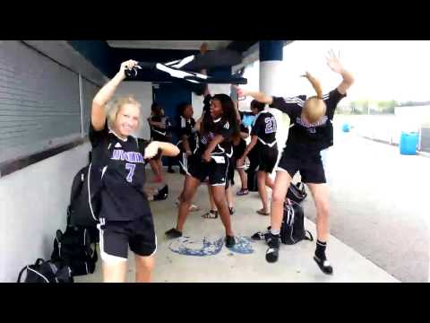 Wyoming girl varsity soccer team harlem shake