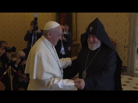 Pope Francis blesses statue in Vatican Gardens in honor of St. Gregory of Narek