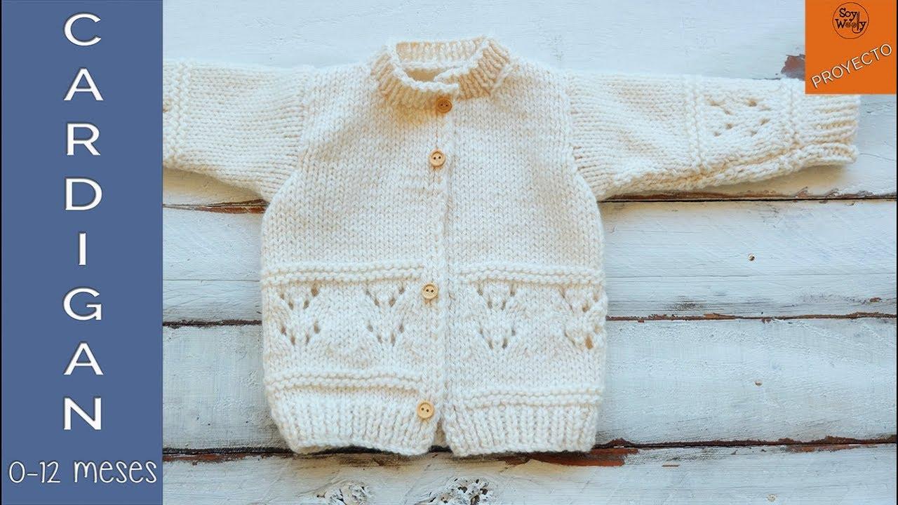 Abrigo para niños tejido en dos agujas (0-12 meses) Vídeo 2 Soy ...