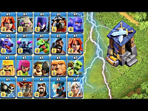 Max Guard Post Vs Every Single Troops Unbelievable Attack || Clash Of Clans
