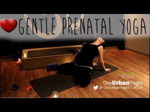 ❤ 20-Minute Gentle Prenatal Yoga Class | Yoga w. OneUrbanYogini ❤